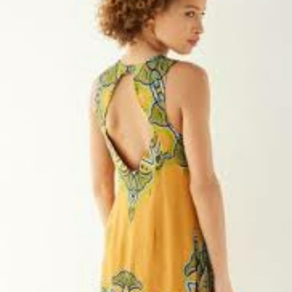 e9fc119f8223 Ecote Frock Dress golden yellow paisley coverup. M 5abae05a2ab8c595deb75027